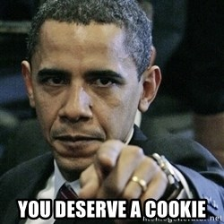Pissed off Obama -  you deserve a cookie