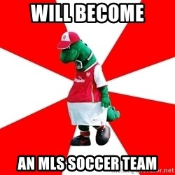 Arsenal Dinosaur - will become an MLS soccer team