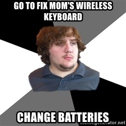 Family Tech Support - Go to fix Mom's wireless keyboard Change batteries