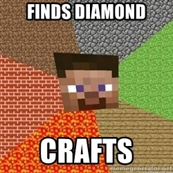 Minecraft Steve - Finds diamond Crafts
