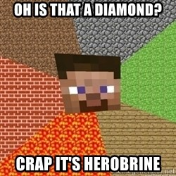 Minecraft Steve - OH IS THAT A DIAMOND? CRAP IT'S HEROBRINE