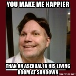 Free Speech Whatley - You make me happier  Than an asexual in his living room at sundown