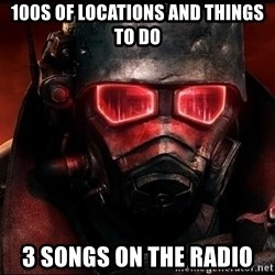 Fallout  - 100S OF LOCATIONS AND THINGS TO DO 3 SONGS ON THE RADIO