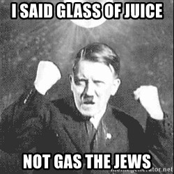 Disco Hitler - i said glass of juice not gas the jews