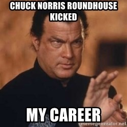 Steven Seagal - Chuck Norris roundhouse kicked My career