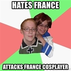 Hetalia Fans - Hates France attacks france cosplayer
