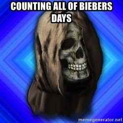 Scytheman - Counting all of biebers days
