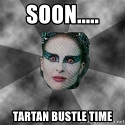 Black Swan Eyes - SOON..... Tartan bustle time