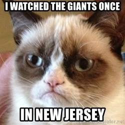 Angry Cat Meme - i watched the giants once in new jersey