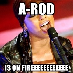 Alicia Keys Sings - A-Rod Is on Fireeeeeeeeeeee