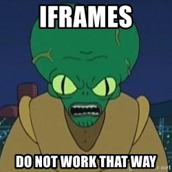 Morbo - iframes do not work that way