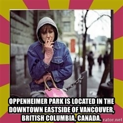 ZOE GREAVES DOWNTOWN EASTSIDE VANCOUVER -  Oppenheimer Park is located in the Downtown Eastside of Vancouver, British Columbia, Canada.