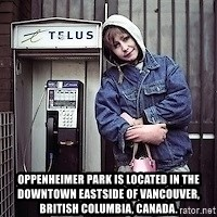 ZOE GREAVES TIMMINS ONTARIO -  Oppenheimer Park is located in the Downtown Eastside of Vancouver, British Columbia, Canada.