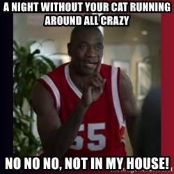 Dikembe Mutombo - a night without your cat running around all crazy  no no no, not in my house!
