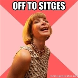 Amused Anna Wintour - Off to Sitges