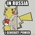Soviet  Pikachu - In Russia I generate power