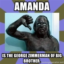 WANNABE BLACK MAN - Amanda  is the George Zimmerman of Big Brother.