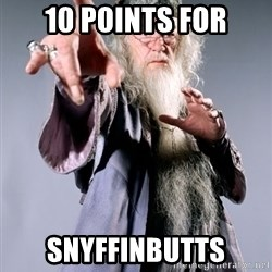Dumbledore - 10 points for snyffinbutts