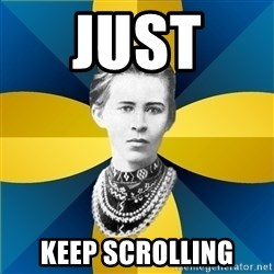 Typical Female Philologist - JUST  KEEP SCROLLING