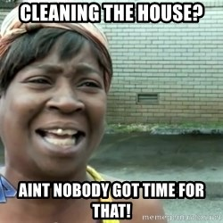 sweet brown ios - cleaning the house?  aint nobody got time for that!