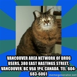 AMBER DTES VANCOUVER -   Vancouver Area Network of Drug Users, 380 East Hastings Street, Vancouver, BC V6A 1P4, Canada. Tel. 604-683-6061