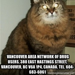 ZOE GREAVES DTES VANCOUVER -   Vancouver Area Network of Drug Users, 380 East Hastings Street, Vancouver, BC V6A 1P4, Canada. Tel. 604-683-6061