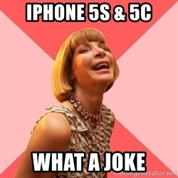 Amused Anna Wintour - iPhone 5s & 5c What a joke
