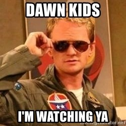 Deal with it barney - Dawn Kids I'm watching ya