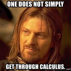 Boromir - One does not simply get through Calculus.