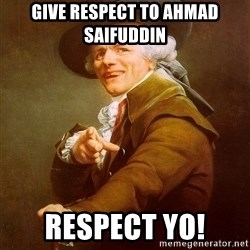 Joseph Ducreux - Give respect to Ahmad Saifuddin respect yo!