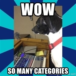 doge - wow so many categories