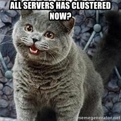 I can has cheezburger? - All servers has clustered now?