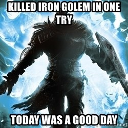 Dark Souls Dreamagus - Killed Iron Golem in one try Today was a good day