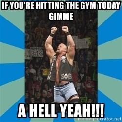 stone cold steve austin - If you're hitting the gym today gimme A hell yeah!!!