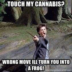 Pissed off Harry - Touch my cannabis? WRONG MOVE ILL TURN YOU INTO A FROG!