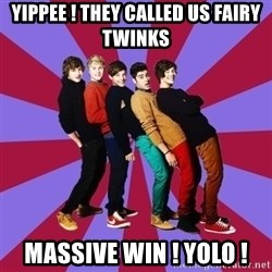 typical 1D - YIPPEE ! THEY CALLED US FAIRY TWINKS MASSIVE WIN ! YOLO !