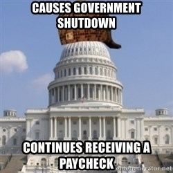 Scumbag Congress - Causes government shutdown continues receiving a paycheck