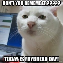 Serious Cat - Don't you remember????? Today is frybread day!