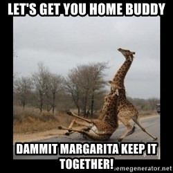 Trust Fall Giraffes - Let's get you home buddy Dammit Margarita keep it together!