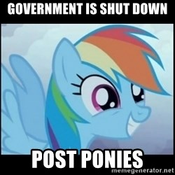 Post Ponies - Government is shut down Post ponies