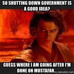 You Underestimate My Power - So Shutting Down Government is a good idea? Guess where I am going after i'm done on Mustafar...