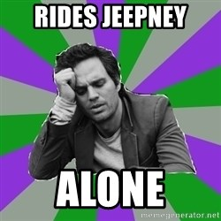 Forever Alone Bruce - rides jeepney  ALONE