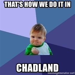 Success Kid - that's how we do it in CHADLAND