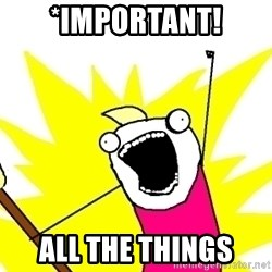 X ALL THE THINGS - *important! all the things
