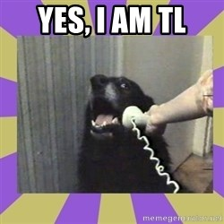 Yes, this is dog! - Yes, I am TL
