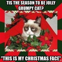"""GRUMPY CAT ON CHRISTMAS - Tis the season to be jolly grumpy cat? """"This is my Christmas face"""""""