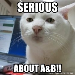Serious Cat - Serious About A&B!!