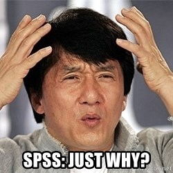 Jackie Chan -  SPSS: just why?