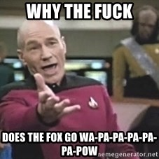 Picard Wtf - Why the fuck does the fox go Wa-pa-pa-pa-pa-pa-pow