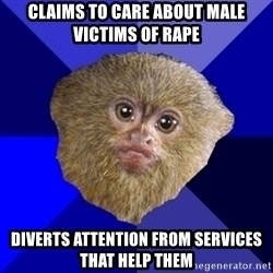 MRA Marmoset - Claims to care about male victims of rape diverts attention from services that help them